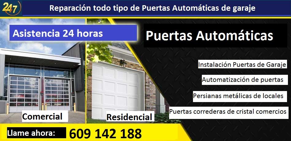 Reparación Puertas automáticas San Martín de la Vega
